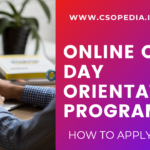 ODOP for CS Students after Registration- How to attend online