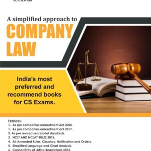 Company Law CS Executive Book by CS...