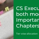 CS Executive Important Chapters Both Modules – Jun & Dec 2021