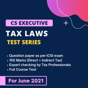 Tax Laws Test Series for June &...