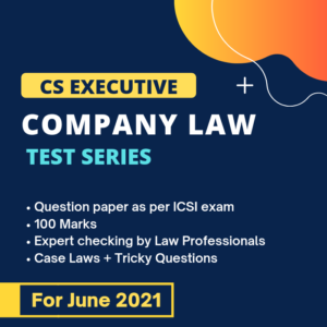 Company Law Test Series for June &...