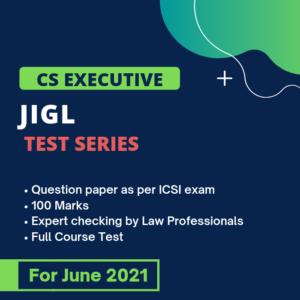 JIGL Test Series for June 2021