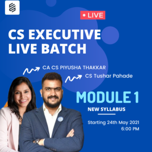 Live Batch: CS Executive Module 1 by...