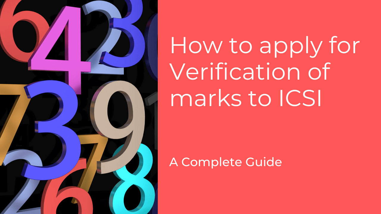 How to apply for verification of marks to ICSI