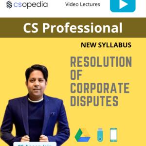 CS Professional Resolution of Corporate...