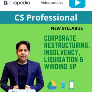 CS Professional – Corporate restructuring,...